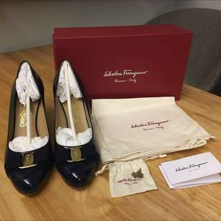 Salvatore Ferragamo Women Shoes Heels Size 10 正品 正版 飛甩雞毛 女裝 高跟鞋 高踭鞋 100% real and new