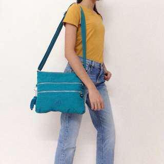 Kipling Alvar Crossbody Bag Nylon Aqua Blue