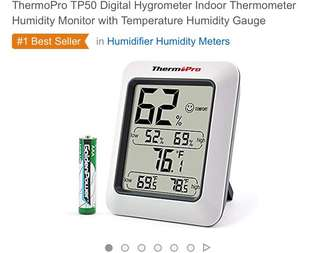 214• ThermoPro TP50 Digital Hygrometer Indoor Thermometer Humidity Monitor with Temperature Humidity Gauge