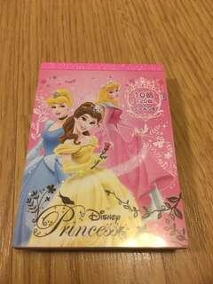 Disney princess memo pad