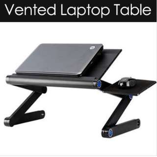 Adjusted laptop table