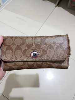 Authentic coach wallet trifold