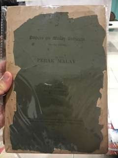 Vintage Book on Perak Malays
