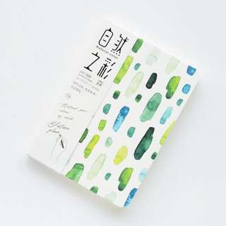 A5 aesthetic notebook (forest, green)