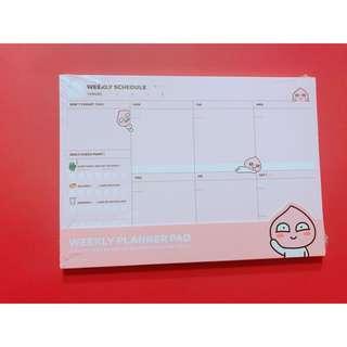 Weekly planner pad🍑
