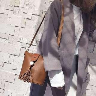 🚚 新款時尚流蘇復古水桶包 (共3色)