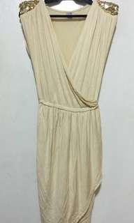 Pre loved Gold Cocktail Dress