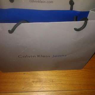 Calvin Klein Large Paper Bag