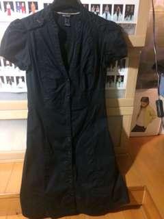 Mango Basic 高磅硬挺黑洋裝9.9成新