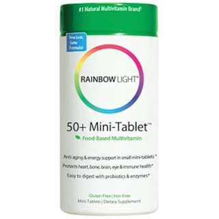 Rainbow Light, 50+ Mini-Tablet, Food-Based Multivitamin, 180 Mini-Tablets