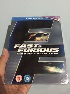 Bluray Original Fast & Furious 7 Movie Collection Import UK