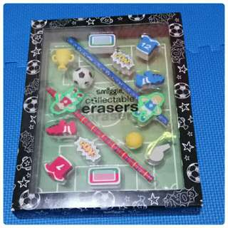 Smiggle collectable erasers