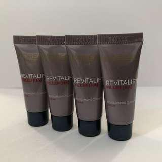 4枝 LOREAL PARIS REVITALIFT FILLER [HA] REVOLUMIZING CUSHION CREAM 活力緊緻透明質酸充盈導入霜 5ml