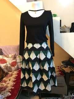 [BRAND NEW] [TERNO] Top and Skirt Set