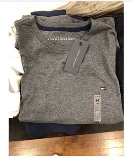 Tommy Hilfiger Plain Crew Neck Shirts