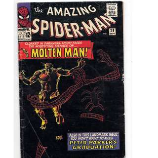 🚚 Amazing Spider-man Vol. 1 #28 - 1st appearance of the Molten Man