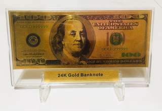 Gold Banknote 100 United States Ofamerica