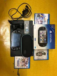 Ps Vita Complete Set With Games&Memory Card