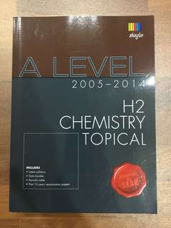 A Level Chemistry Topical TYS (2005-2014)