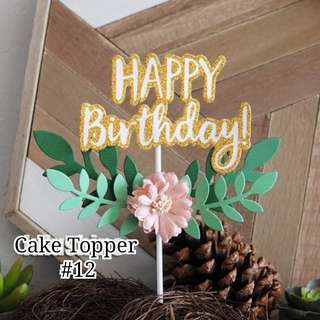 Glitter Cake Topper-Happy Birthday #12