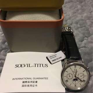 大減價!50%off!全新 SOLVIL TITUS Automatic 鐵達時 自動 手錶 elegance vintage 兩年保用 禮物