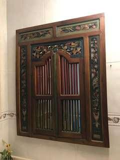 Pernarakan vintage mirror solid wood