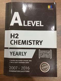 A Level Chemistry Yearly TYS (2007-2016)