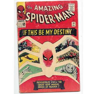 🚚 Amazing Spider-man Vol. 1 #31 - 1st appearance of Gwen Stacy and Harry Osborn (huge ASM key!)