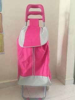 Pink market trolley