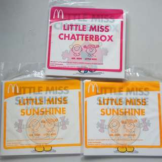 McDonald Little Miss Chatterbox Book & Little Miss Sunshine Book