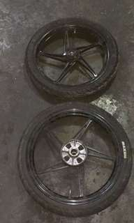 Original Yamaha Jupiter rims(front/back)