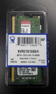 Clearance Sale BRAND NEWLAPTOP RAM KINGSTON KVR21S15S8/4 4GB DDR4 2133Mhz Non ECC Memory RAM SODIMM  Model: KVR21S15S8/4  15pcs in stock Clearance Sale