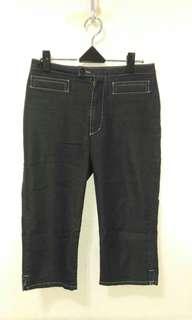 🚚 九成新~ 日本製品牌 Jean Nassaus Co. 黑色 七分褲 --- 26 ~ 28腰 ---