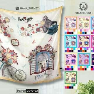 Hijab segi 4 kartun