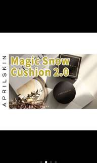 April skin black case magic snow cushion spf50