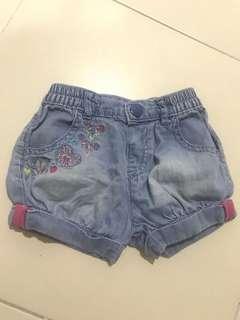 Mothercare Denim Short Pants