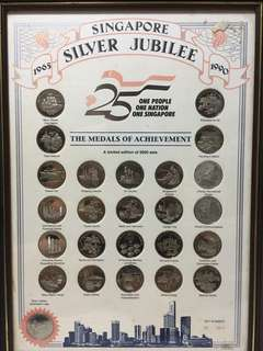 Singapore Silver Jubilee 1965 - 1990 Coin Set