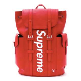 SUPREME x LOUIS VUITTON Christpher Backpack PM RED