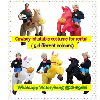 Cowboy Inflatable Costume for rental -  5 Different Colours