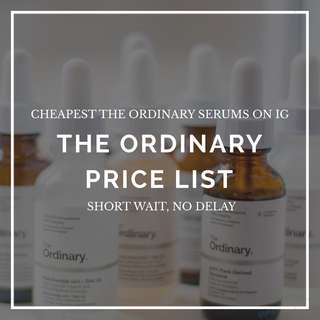 THE ORDINARY NIACINAMIDE, ALPHA ARBUTIN, GLYCOLIC ACID