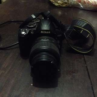 Fs/swap!! Nikon D3000 with lense, charger and sd card.