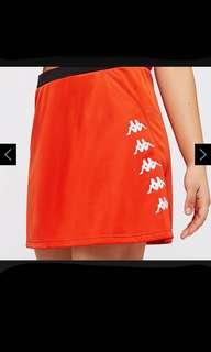 Red kappa skirt