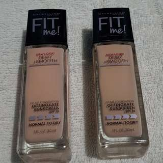 Maybelline Fit Me foundation in Ivory 120 🇺🇸