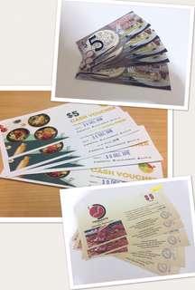 Assorted food vouchers