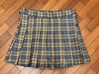 NEW Korean Checkered High Waisted Tennis Skirt