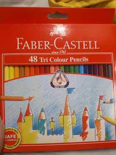 🚚 Faber Castell Colour Pencils 48 Triangle Grip