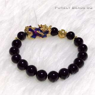 Changing Color Gold plated Pixiu bracelet