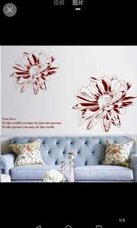 ☑️Instock Modern minimalist flower wall stickers bedroom creative personality wall stickers room bedside stickers wall self-adhesive wall decoration