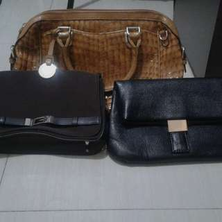 Repriced!!Authentic guess,winpard bag @ leather clutch bag