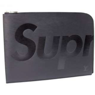 LOUIS VUITTON X SUPREME Pochette Jour GM Black clutch bag